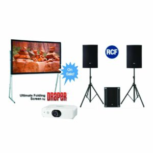 Projector and speaker package